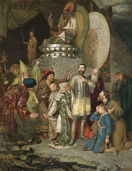 """Кнезот Михаил одбил да се поклони на монголските божества, заради што платил со глава. Не биле сите принципиелни како него. Некои ги сметале Монголите за """"in""""."""