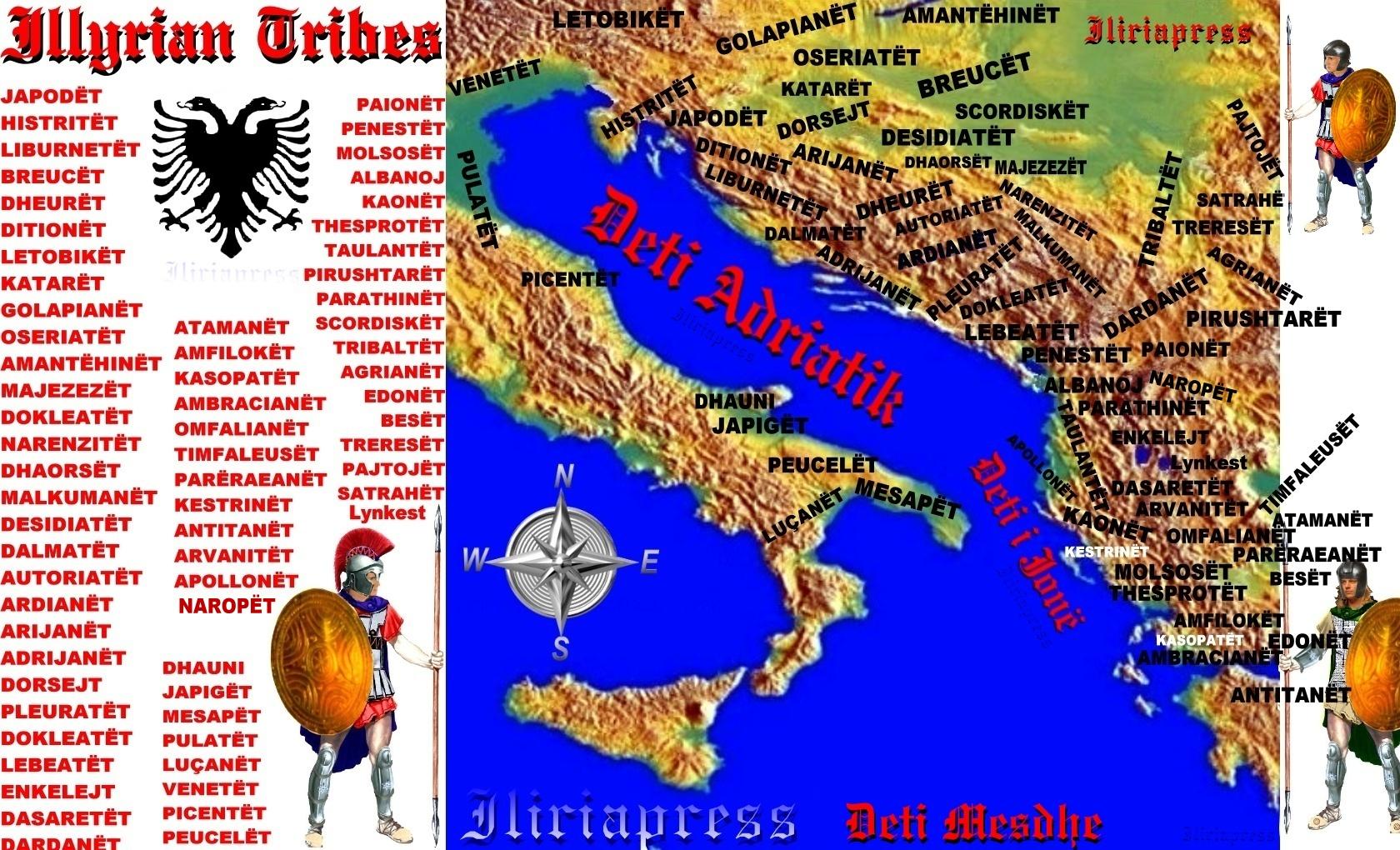 Iliria mapa pleminja