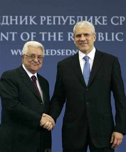 Boris Tadic, Mahmoud Abbas
