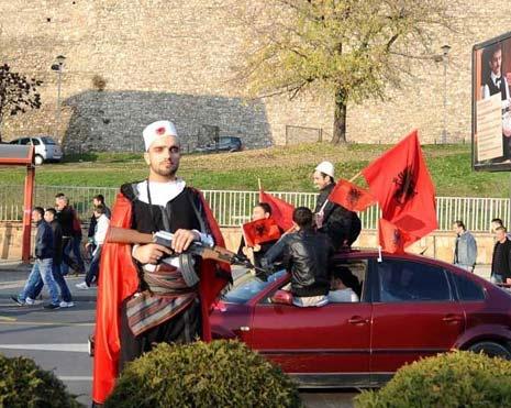 den na albanskoto zname skopje