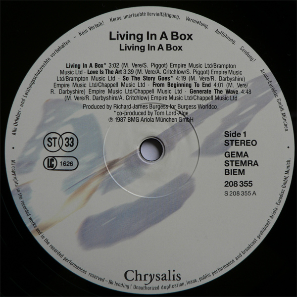 living in a box lp
